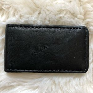 Fossil Black Leather Magnetic Money Clip